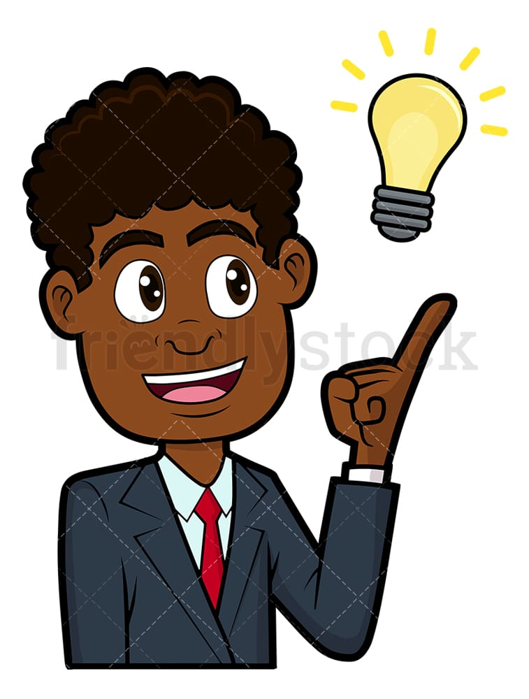 African American Business Man Cartoon Character. Businessman.. Royalty Free  Cliparts, Vectors, And Stock Illustration. Image 98574336.