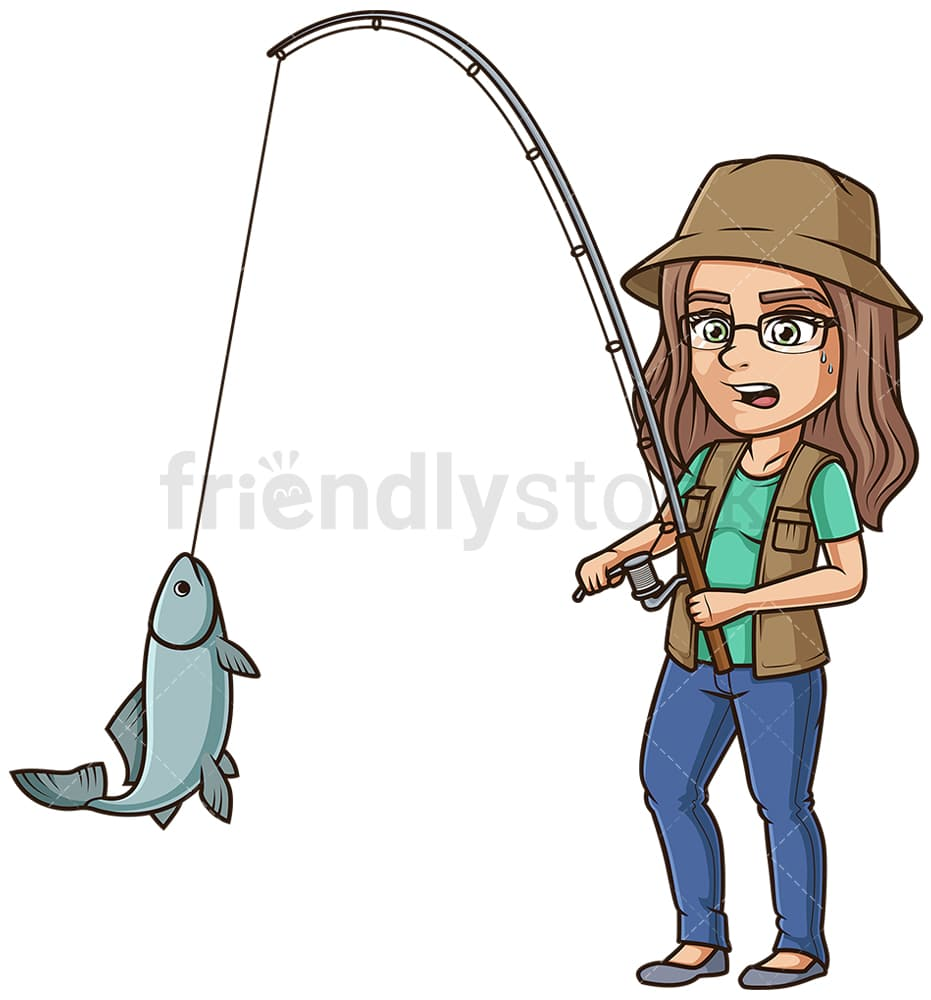 Family Catching Fish With Fishing Rod Royalty Free Cliparts, Vectors, And  Stock Illustration. Image 52861401.