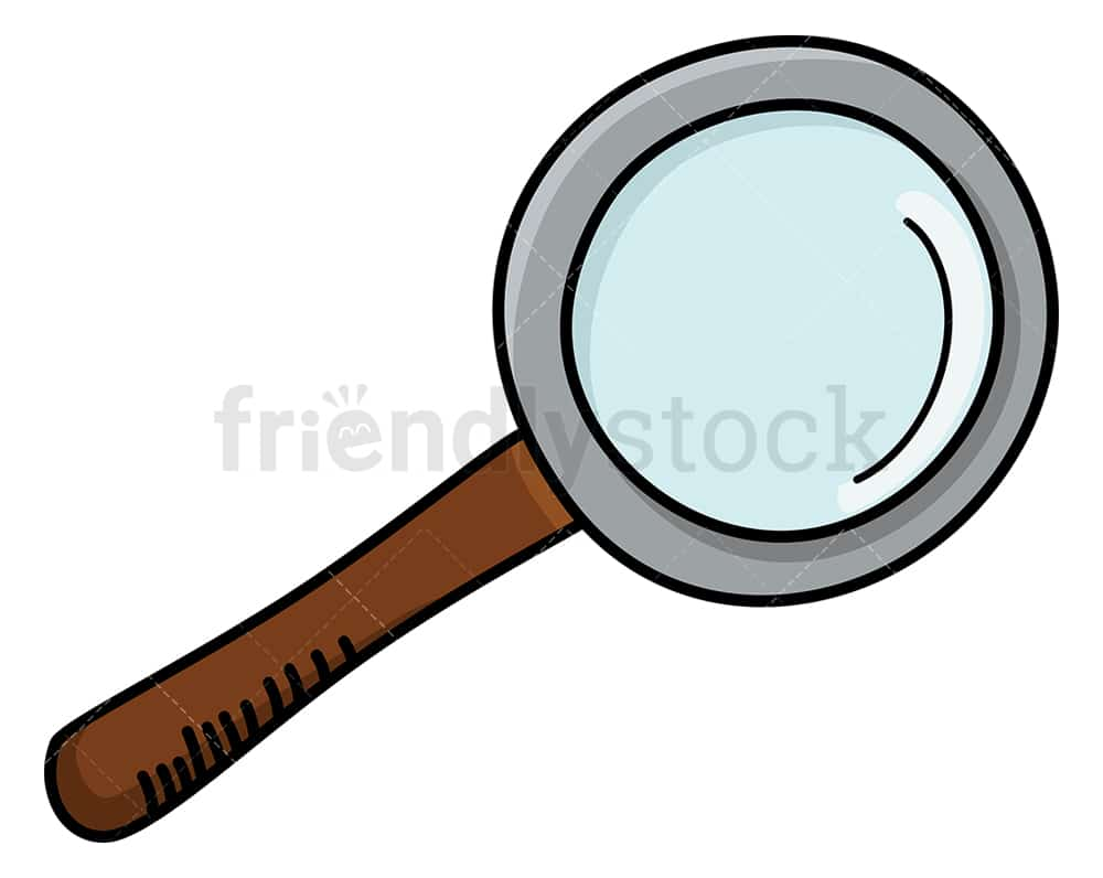 Magnifying Glass Cartoon Clipart Vector Friendlystock
