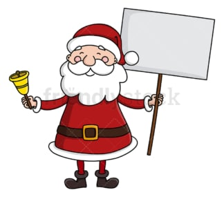 Santa claus holding blank sign. PNG - JPG and vector EPS (infinitely scalable).