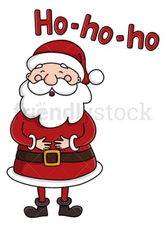 Cute santa claus laughing ho-ho-ho. PNG - JPG and vector EPS (infinitely scalable).