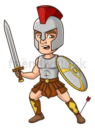 Achilles hit by arrow. PNG - JPG and vector EPS (infinitely scalable).