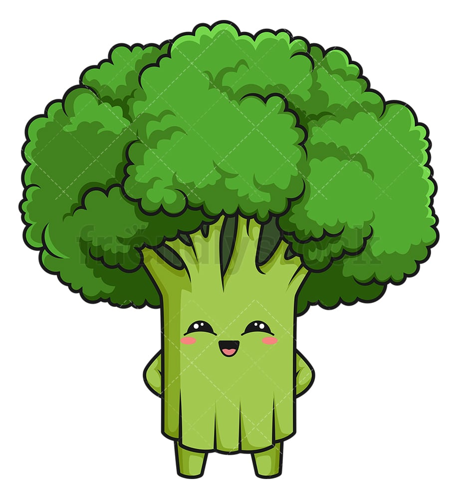 kawaii broccoli cartoon clipart vector friendlystock kawaii broccoli cartoon clipart vector friendlystock