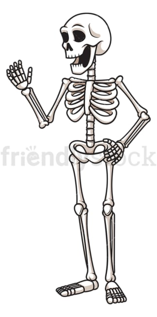 Happy human skeleton. PNG - JPG and vector EPS (infinitely scalable).