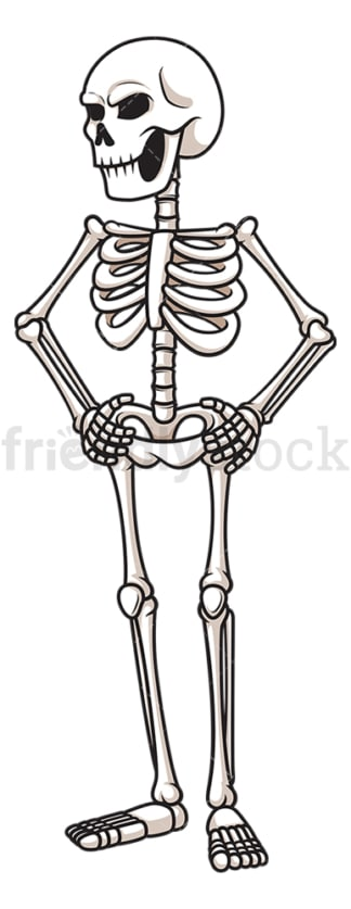 Angry skeleton. PNG - JPG and vector EPS (infinitely scalable).