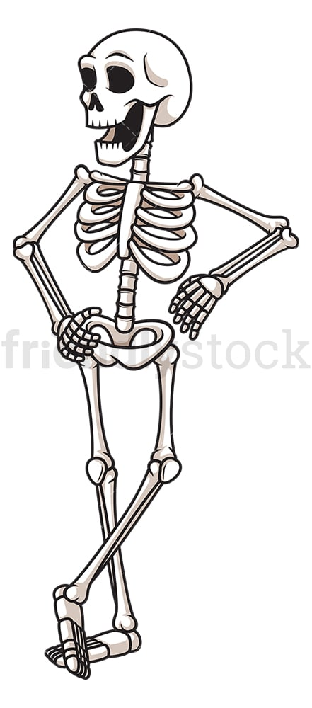 Skeleton leaning on something. PNG - JPG and vector EPS (infinitely scalable).