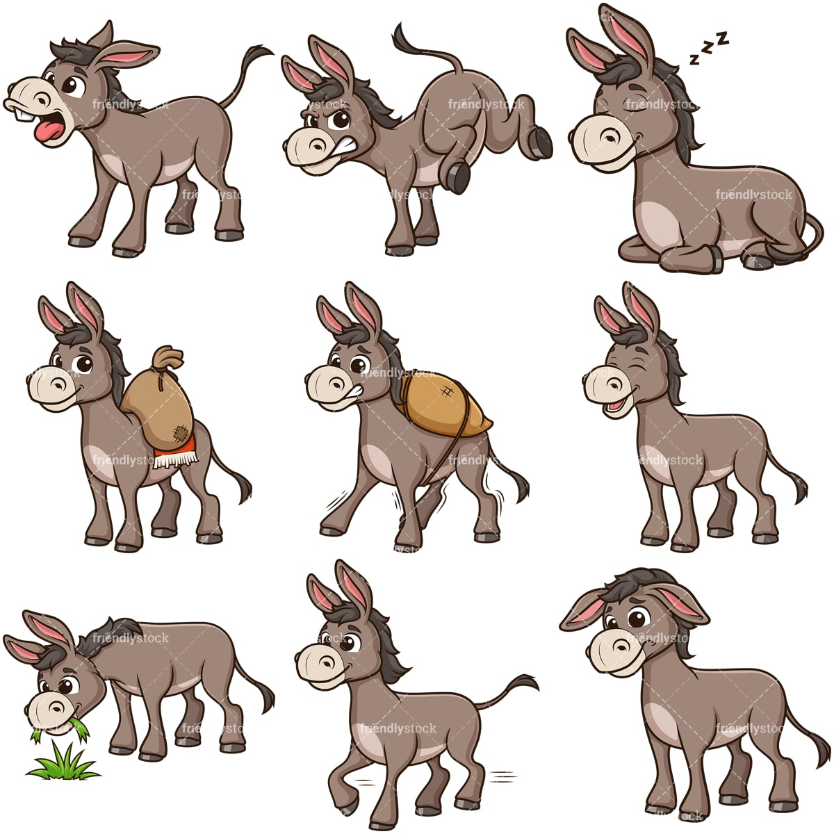 Clip Art Donkey Clipart Image - Donkey Clip Art - 500x438 PNG Download -  PNGkit