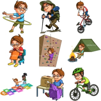 Christopher doing activities. PNG - JPG and infinitely scalable vector EPS - on white or transparent background.