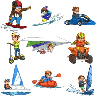 Little boy doing activities. PNG - JPG and infinitely scalable vector EPS - on white or transparent background.