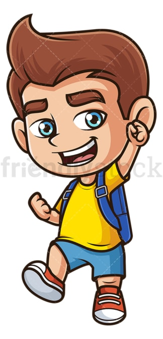 Kid going to school. PNG - JPG and vector EPS (infinitely scalable).