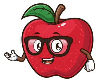 Friendly apple. PNG - JPG and vector EPS (infinitely scalable).