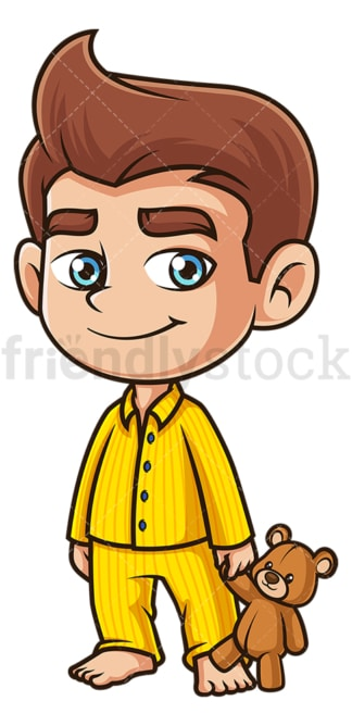 Boy wearing pajamas. PNG - JPG and vector EPS (infinitely scalable).