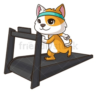 Cat working out. PNG - JPG and vector EPS (infinitely scalable).