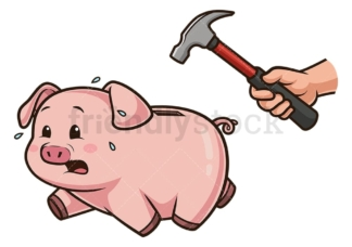 Breaking a piggy bank. PNG - JPG and vector EPS (infinitely scalable).