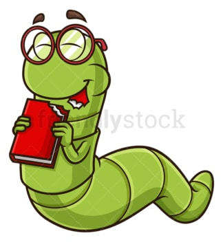 Bookworm eating book. PNG - JPG and vector EPS (infinitely scalable).
