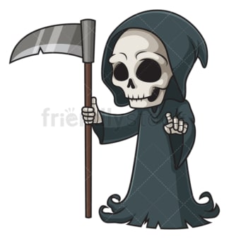 Death character pointing. PNG - JPG and vector EPS (infinitely scalable).