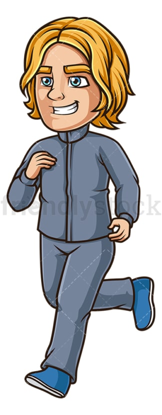 Young man jogging. PNG - JPG and vector EPS (infinitely scalable).